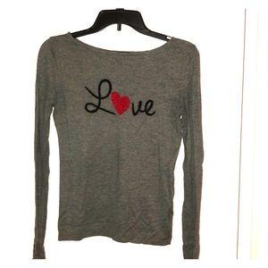 EXPRESS Long Sleeve LOVE Sweater